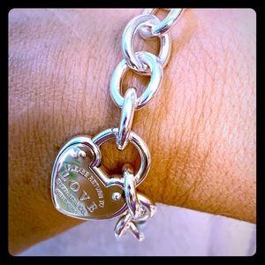 Tiffany love lock bracelet